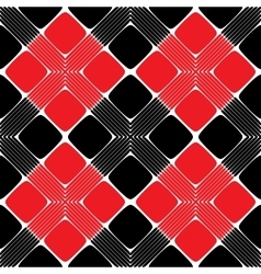 Red and Black Rectangle Seamless Pattern vector image vector image