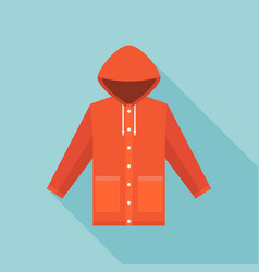 red vintage raincoat icon vector image