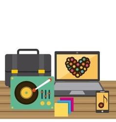 Redording music icons vector