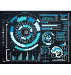 Sci-fi futuristic virtual graphic touch user vector