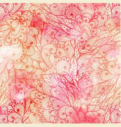 Seamless floral grunge pink gradient pattern vector