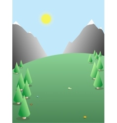 Seasonal landscape nature background vector image