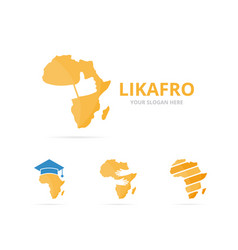 Set of africa logo combination safari and best vector