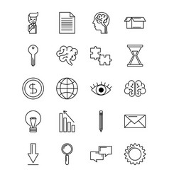 set of icons creative idea business concept vector image