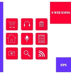 Set of icons for web vector image