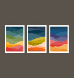 set of vertical backgrounds or card templates with vector image