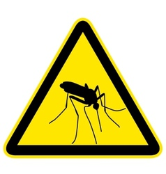 Sign with black silhouette of mosquito vector