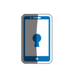 Smartphone phone security keyhole vector