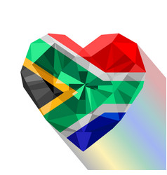 South african heart flag of south africa vector