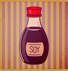 Soy sauce bottle vector