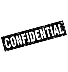 Square grunge black confidential stamp vector