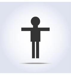 Standing human icon vector
