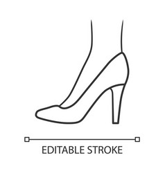 Stiletto shoes linear icon woman stylish formal vector