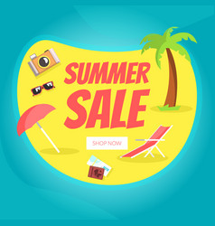 summer sale landing page template set tropical vector image