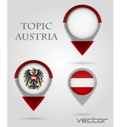 Topic austria Map Marker vector image