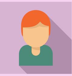Tutor avatar icon flat style vector