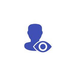 Viewer or spectator icon vector