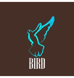 vintage with a bird vector image