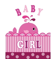 whale baby girl vector image