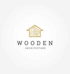 wooden house architecture logo sign symbol icon vector image