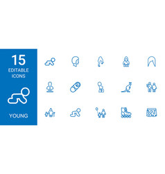 young icons vector image