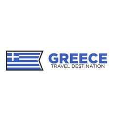 Greece travel destination logo vector