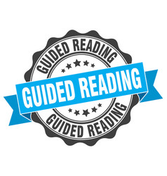 guided reading stamp sign seal vector image vector image