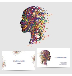 icon design element business card template vector image vector image