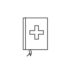 medicine book icon vector image