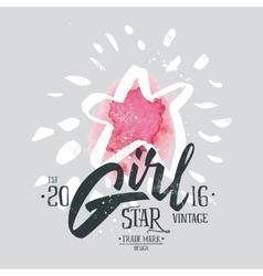 Print for T-shirt Girl vector image