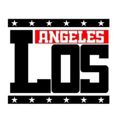 T shirt Los Angeles California vector image vector image