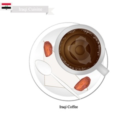 Traditional iraqi coffee popular dink in iraq vector