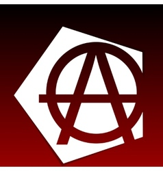 Anarchy Symbol vector image
