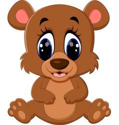 cartoon teddy bear waving hand vector image