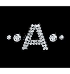 Diamond alphabetic letter A vector image