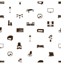 living room pattern eps10 vector image