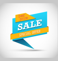 sale special offer banner vector image
