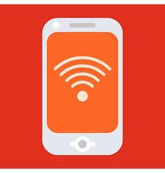 Smartphone with internet symbol vector