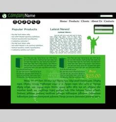 web site vector image