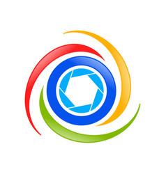 aerial drone photography symbol logo design vector image