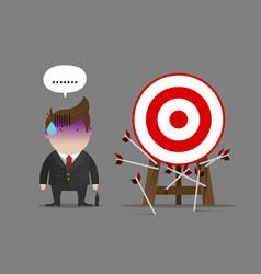 businessman miss all target vector image