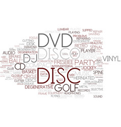 Disc word cloud concept vector
