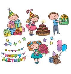 Kids birthday vector image vector image