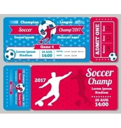 Soccer football sports ticket card retro vector image