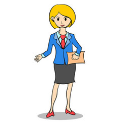 business woman style design character vector image