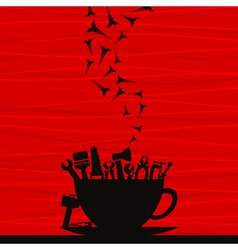 Tool a cup vector image