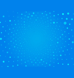 abstract blue circle dots background vector image