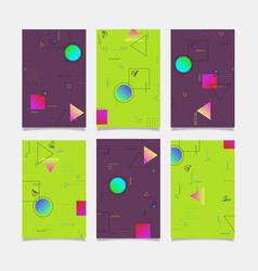 Abstract geometric design banners templates vector