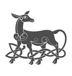 ancient celtic mythological symbol doe vector image