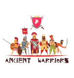 Ancient warriors concept vector